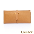 LouiseC. 植鞣牛皮 輕薄皮帶扣長夾-氣質黃 HGSB710602-13