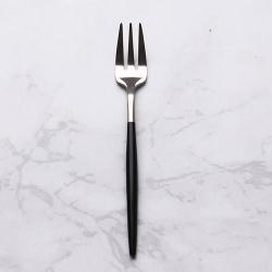 Royal Duke (2入組)葡萄牙同款小叉/果叉/點心叉-黑銀色(歐洲時尚簡約)