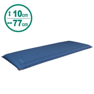 100mountain 198 x 77 x 厚10cm 豪華加寬充氣睡墊 藍色