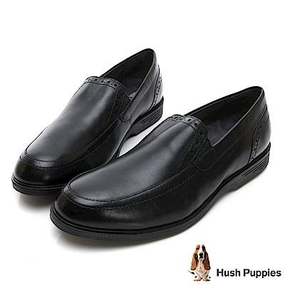 Hush Puppies SHEPSKY 正裝直套式皮鞋-黑