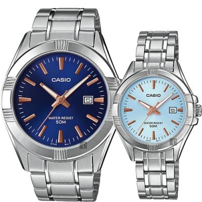CASIO 卡西歐 情侶手錶對錶-MTP-1308D-2AV+LTP-1308D-2AV