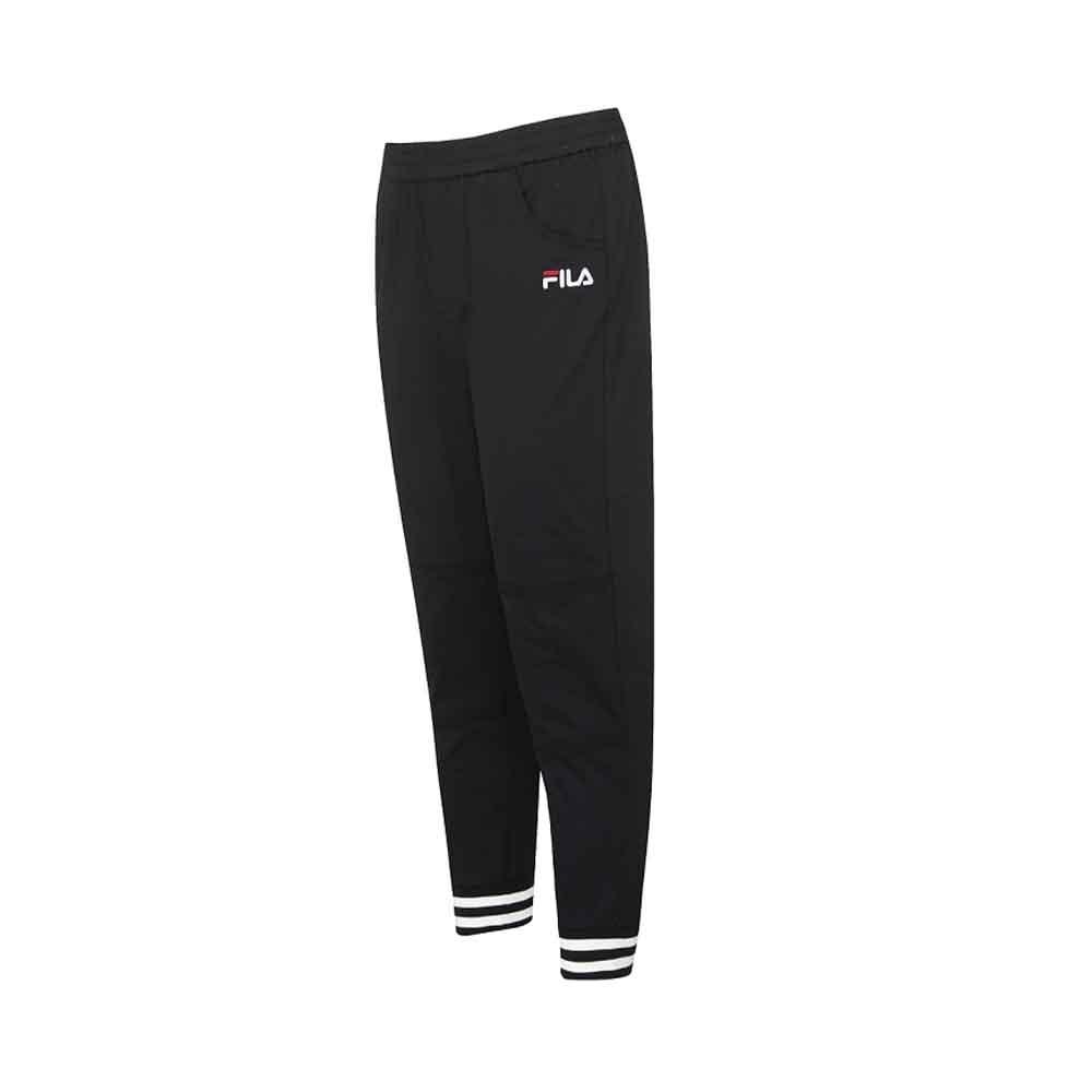 FILA 男平織長褲-黑色 1PNU-5471-BK