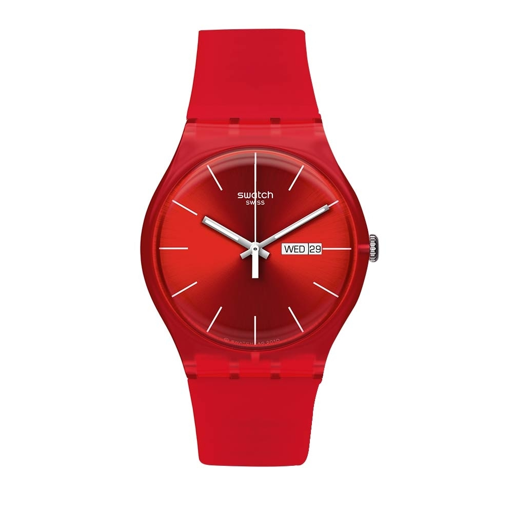 Swatch Rebel Aagin 系列手錶 RED REBEL 反叛火紅 -41mm