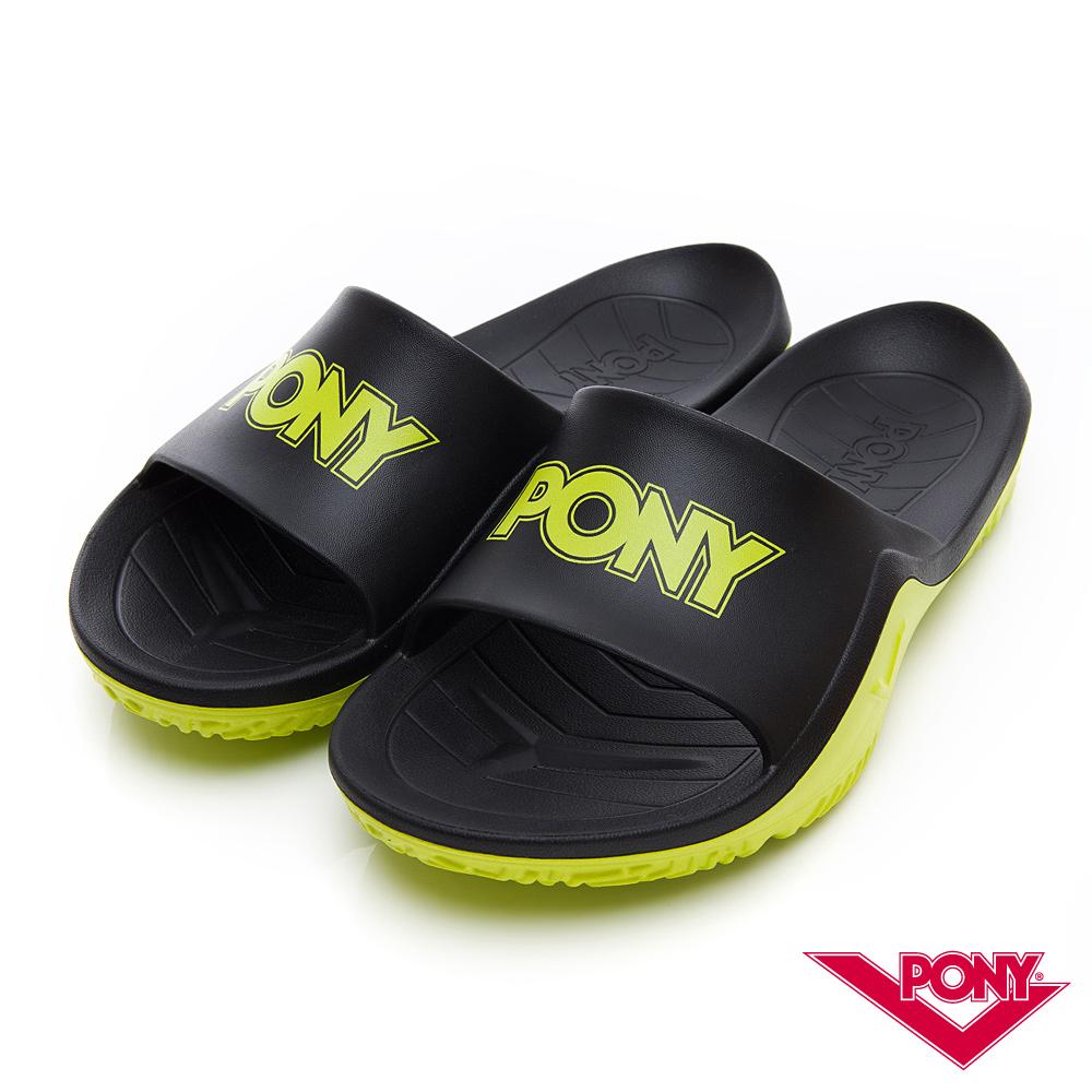 【PONY】輕量抗菌防臭防滑運動拖鞋 涼鞋 男鞋 女鞋 淺綠