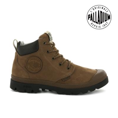 PALLADIUM PAMPA CUFF LITE+ WP+ LTH輕量皮革防水靴-中性-咖啡