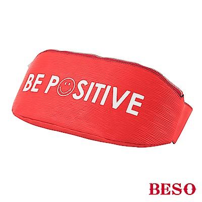 BESO 正面力量 笑臉標語兩用包~紅