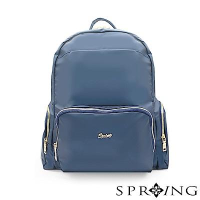 SPRING-微光澤輕量後背包-質感藍