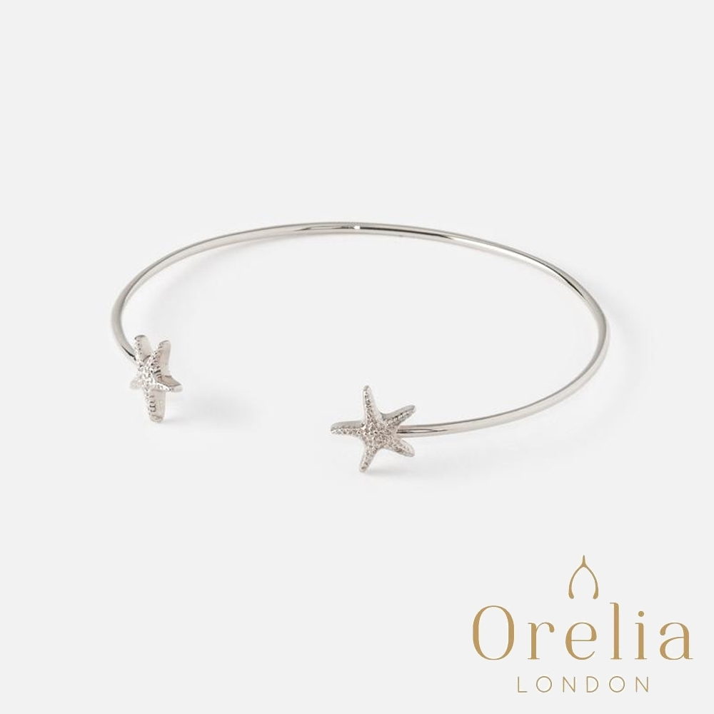 Orelia 英國倫敦 愛戀海星銀色開口手環