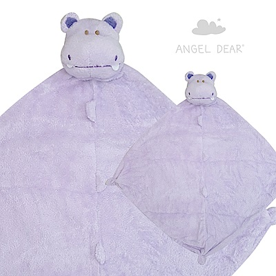 Angel Dear 動物嬰兒安撫巾 (紫河馬)
