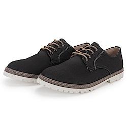 BuyGlasses 綁帶 上班族 皮鞋 休閒鞋-黑