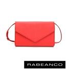 RABEANCO 迷時尚系列牛皮兩用信封包 橘紅
