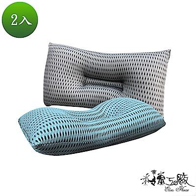精靈工廠 6D超涼感奈米銀離子 透氣止鼾枕2入