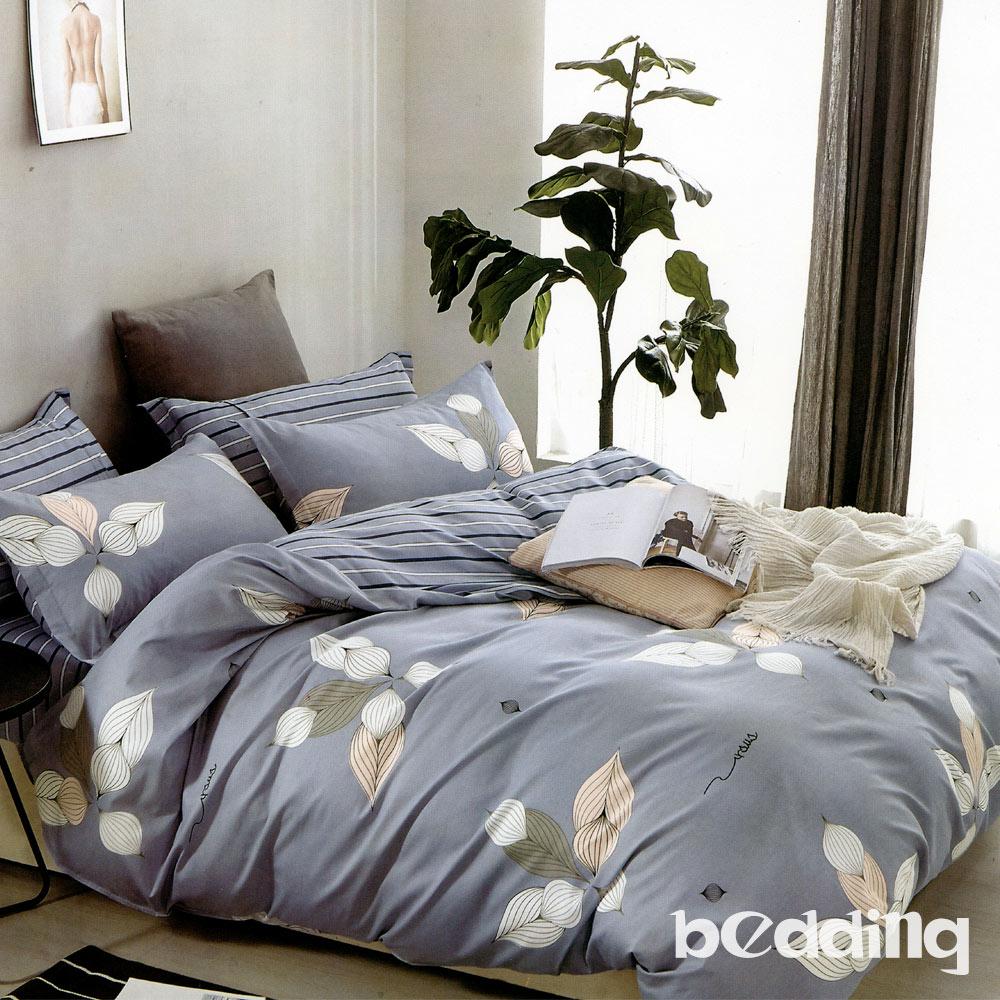 BEDDING-100%棉6尺加大雙人薄式床包涼被四件組-傲嬌
