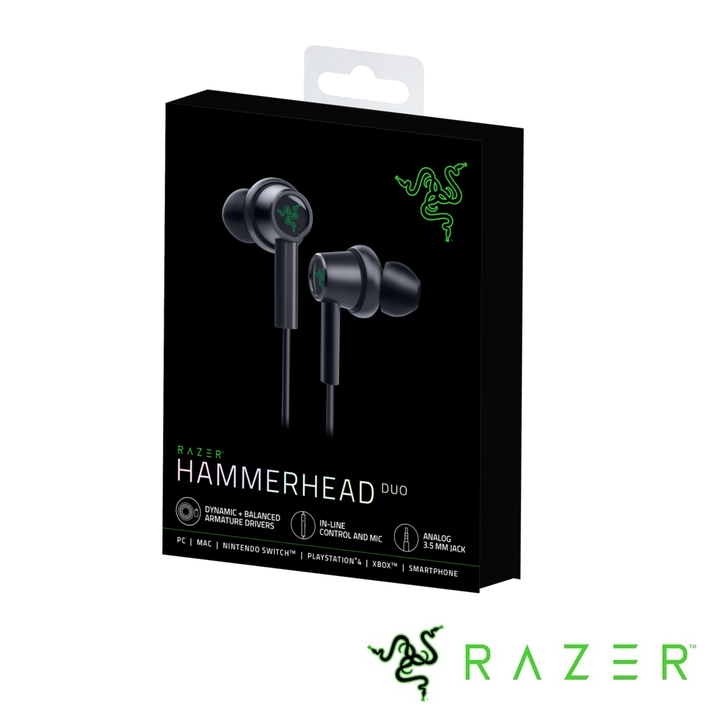 Razer Hammerhead Duo 戰錘狂鯊Duo 入耳式耳機