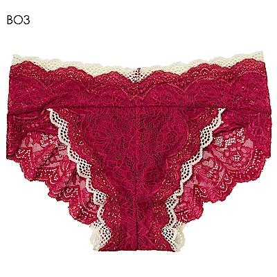 aimerfeel 雙蕾絲性感內褲-玫瑰色-598121-BO3