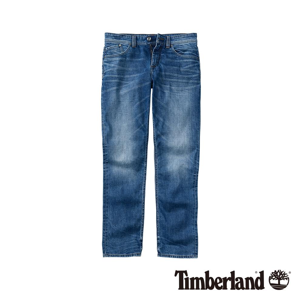 Timberland 男款中藍色彈力修身牛仔褲 A1NRK