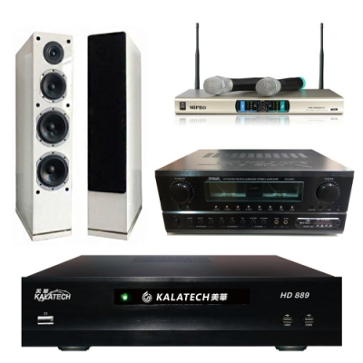 美華HD-889+SA-830U+AS-168+MR-3000D IV(伴唱機3TB+卡拉OK套組)
