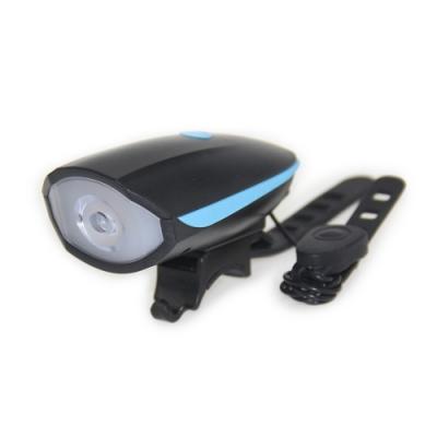 USB充電自行單車防水線控喇叭照明車頭燈.快拆三段模式高分貝線控喇叭自行車燈前燈警示燈