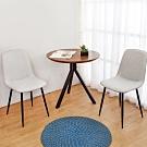 Boden-奇克2.7尺工業風圓形餐桌椅組合/洽談桌椅組合(一桌二椅)-80x80x76