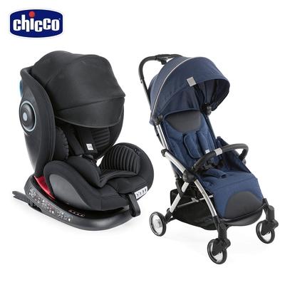 chicco-Seat 4 Fix Isofix安全汽座Air版+Goody Plus魔術瞬收手推車