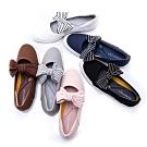 [時時樂限定]HANNFORT CALIFORNIA 海軍條紋蝴蝶結休閒鞋