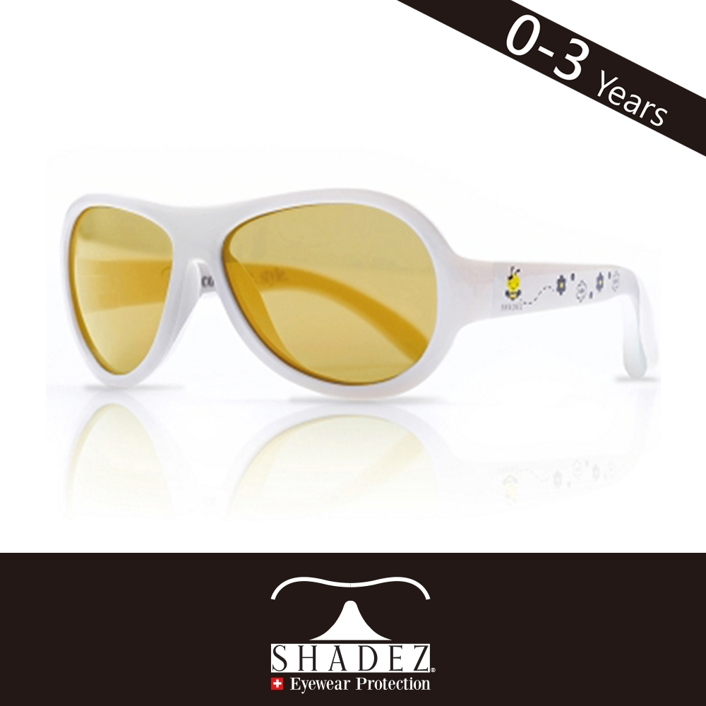 瑞士SHADEZ 兒童太陽眼鏡SHZ-26(年齡0-3)--白色蜜蜂