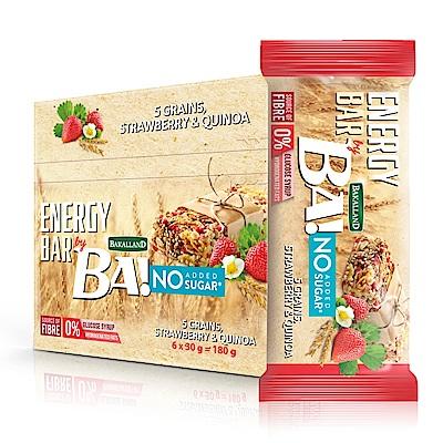 BAKALLAND草莓藜麥穀物棒(30gx6入)
