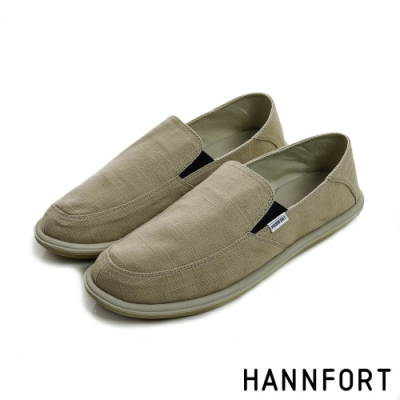 HANNFORT COZY可機洗兩穿式後踩氣墊懶人鞋-男-復古褐