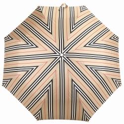 BURBERRY Trafalgar Vintage 品牌條紋牛皮拐杖提把折