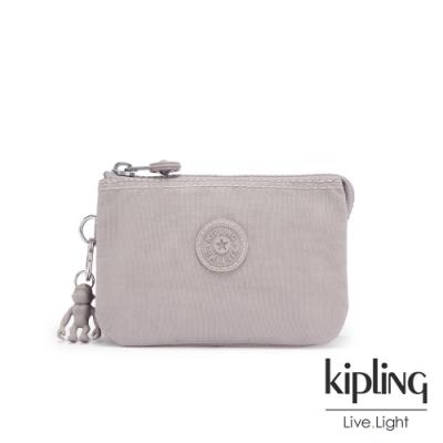 Kipling 沉穩迷霧灰三夾層配件包-CREATIVITY S
