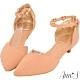 Ann'S愛心光波-甜美愛心鑽性感繫帶低跟尖頭鞋-粉 product thumbnail 1