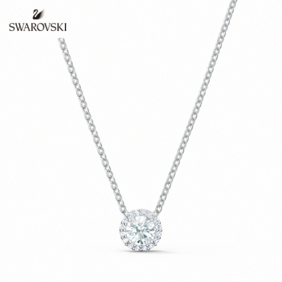 SWAROVSKI 施華洛世奇 Angelic 白金色典雅水晶項鏈