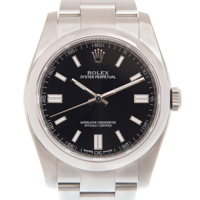 ROLEX 勞力士 Oyster 116000 蠔式恆動自動上鍊腕錶x黑x36mm