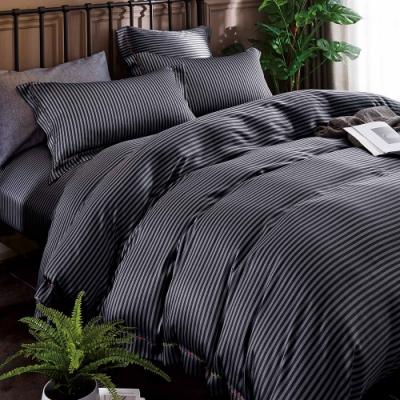 岱思夢 加高天絲床罩六件組 加大6x6.2尺 西舍-黑