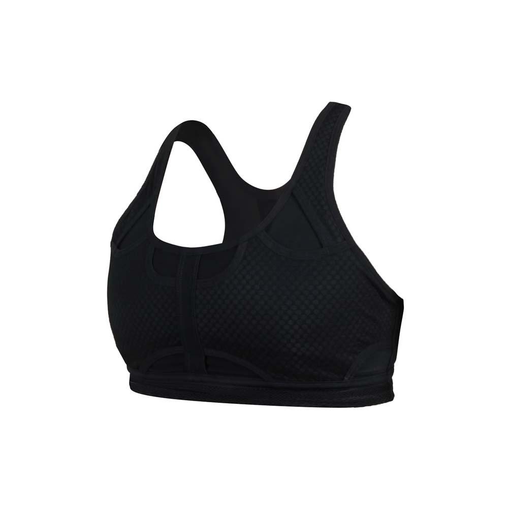 NIKE 女中度支撐運動內衣-DRI-FIT 韻律 瑜珈 運動背心 BRA 訓練 CJ0150-010 黑銀
