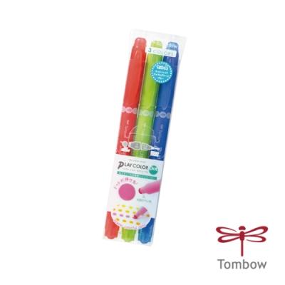 TOMBOW 蜻蜓 書寫系 PLAY color DOT 雙頭點點彩色筆3色 (靚果漾)