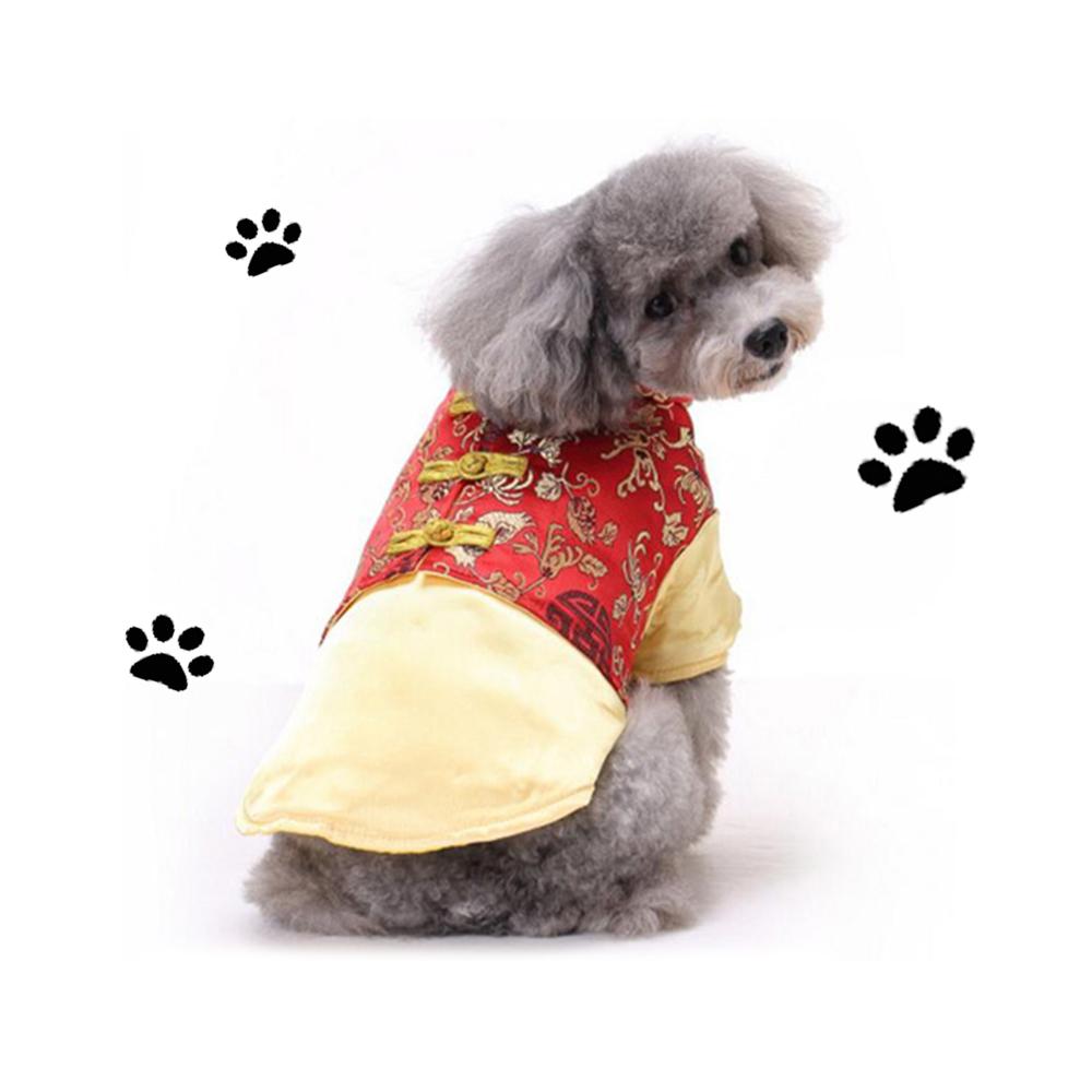 摩達客寵物系列♥中小型犬紅金色喜氣唐裝(變身系列狗衣服)
