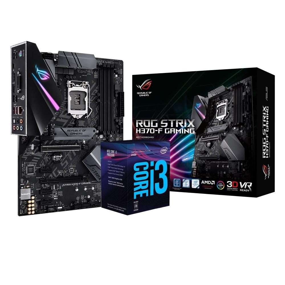 華碩 STRIX H370-F GAMING+Intel i3-9100F