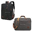 17.3吋 帆布風尚 三用手提/側背/後背 大容量平板筆電商務旅行背包