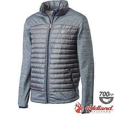 Wildland 荒野 0A62992-93深灰色 男彈性針織拼接羽絨外套