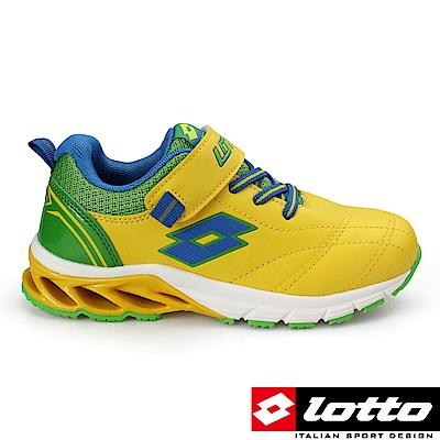 LOTTO 義大利- 中童 碟形避震跑鞋 (黃/綠)
