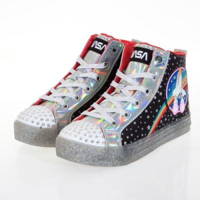 SKECHERS 女童系列 SHUFFLE BRIGHTS 燈鞋 - 314998LBKMT
