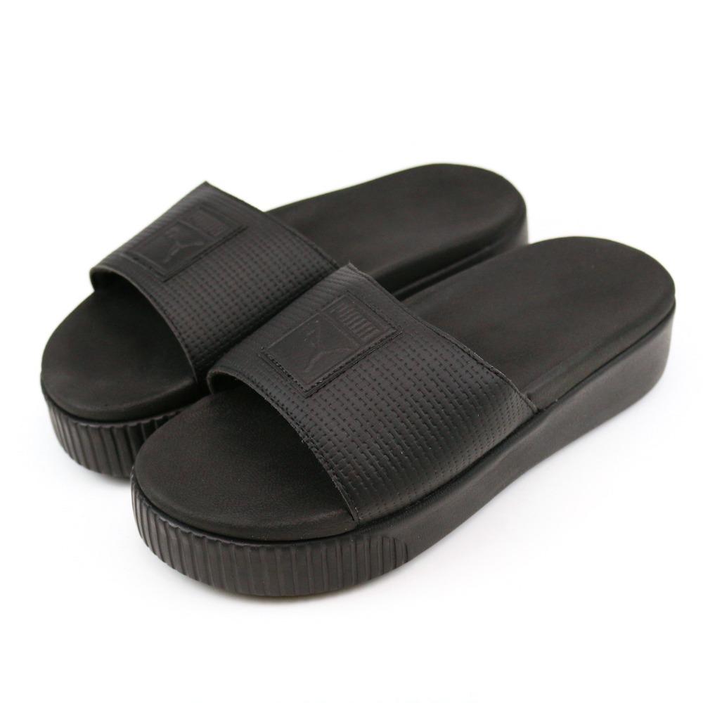 PUMA Platform Slide Wns EP 女涼拖鞋 36612202 黑