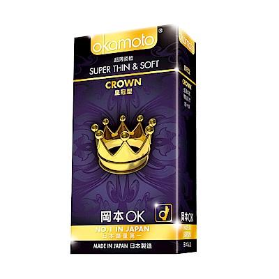 okamoto岡本-Crown皇冠型保險套(10入)