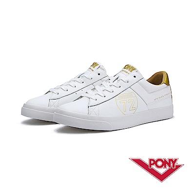 【PONY】TOP STAR系列-經典復古鞋-女-白