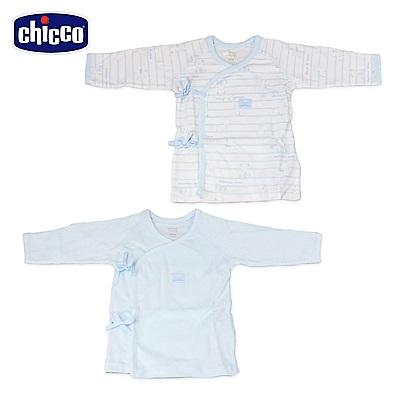 chicco-印花肚衣2入-藍(3-6個月)