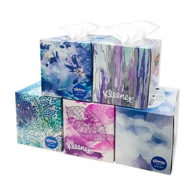 美國 Kleenex頂級柔嫩三層盒裝面紙 85抽/️盒 (花色隨機出貨)