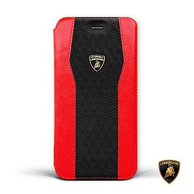 iPhone XR 藍寶堅尼側翻磁扣皮套 - 火焰紅