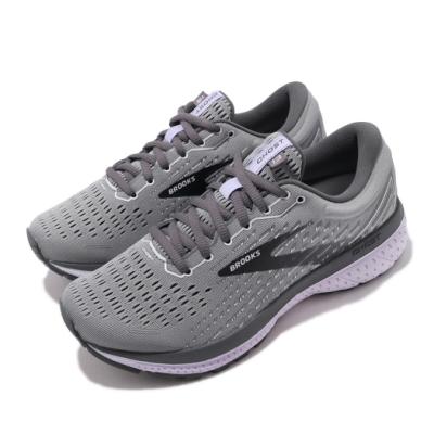 Brooks 慢跑鞋 Ghost 13 Wide 寬楦 女鞋 路跑 緩震 DNA科技 透氣 球鞋 灰 紫 1203381D084