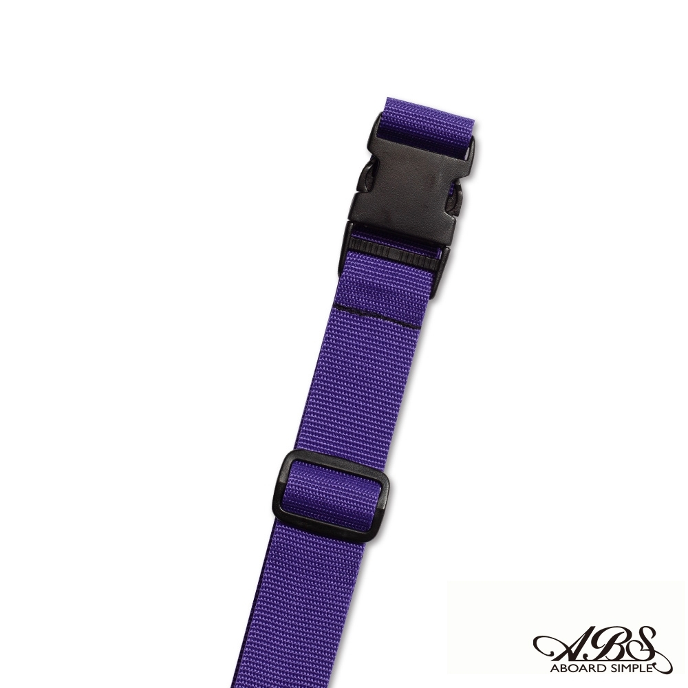 ABS愛貝斯 台灣製造旅行箱束帶單入 捆綁帶 可調式行李打包帶(深紫)66-058D1